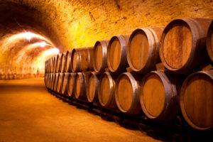 wine-aging-barrels-cellar